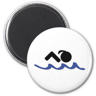 nadador de sexo femenino imán redondo 5 cm