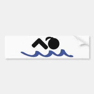 nadador de sexo femenino pegatina para auto