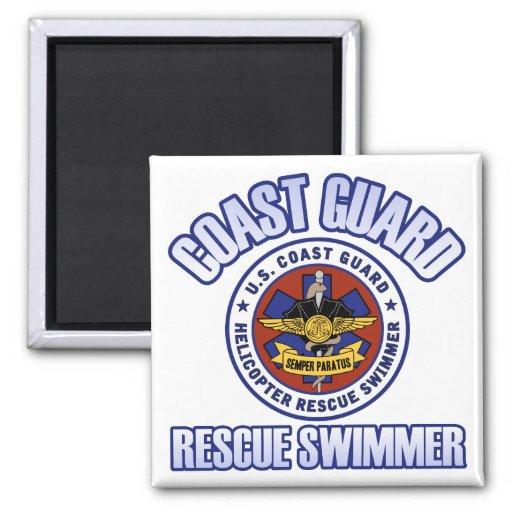 Nadador del rescate del guardacostas iman de frigorífico