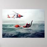 Nadador del rescate del Kodiak - guardacostas Poster