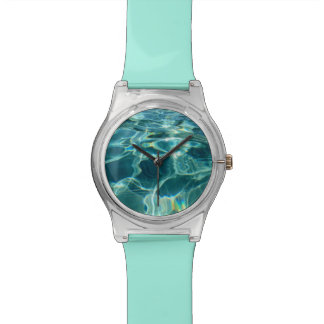 Nadador del salvavidas de la turquesa del agua de relojes de pulsera