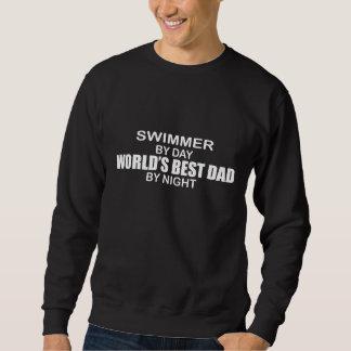 Nadador - el mejor papá del mundo por noche sudadera