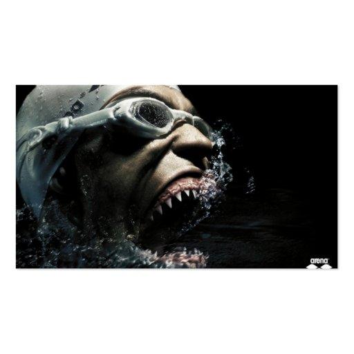 Nadador mortal tarjetas de visita