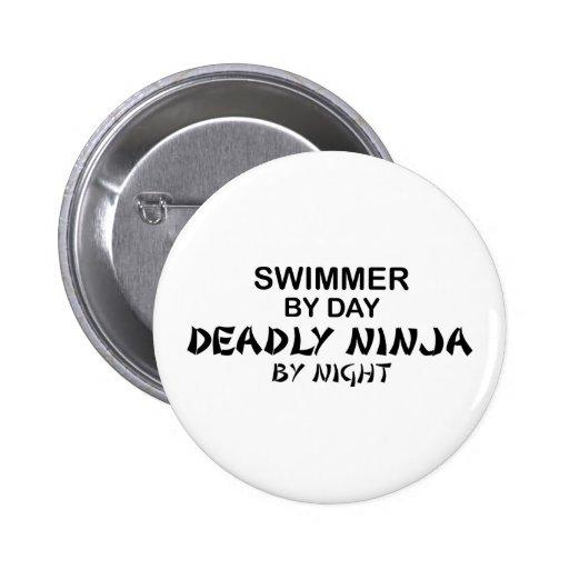 Nadador Ninja mortal por noche Pin