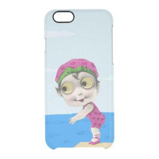 Nadador observado grande de los años 30 de la niña funda clearly™ deflector para iPhone 6 de uncommon