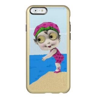 Nadador observado grande de los años 30 de la niña funda para iPhone 6 plus incipio feather shine