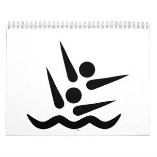 Nadador sincronizado calendario de pared