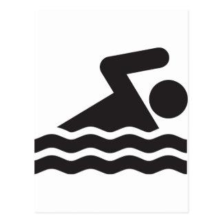 Nadador Tarjeta Postal