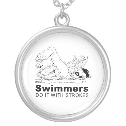 Nadadores Colgante Redondo