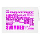 Nadadores de los chicas: Nadador más grande rosado Tarjeton