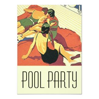 """Nadadores frescos de Deco de la fiesta en la Invitación 4.5"""" X 6.25"""""""