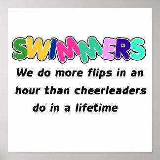 Nadadores y animadoras poster