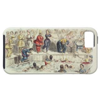 Nadando para las señoras, 1844 (litho) funda para iPhone 5 tough