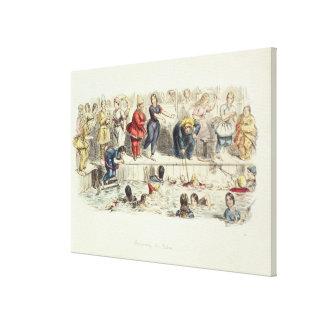 Nadando para las señoras, 1844 (litho) lienzo envuelto para galerias