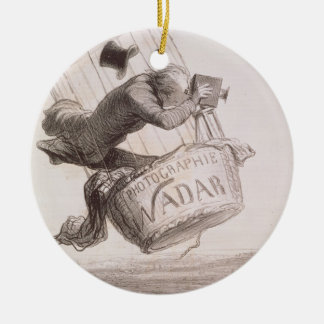 Nadar (1820-1910) elevating Photography to the hei Ceramic Ornament
