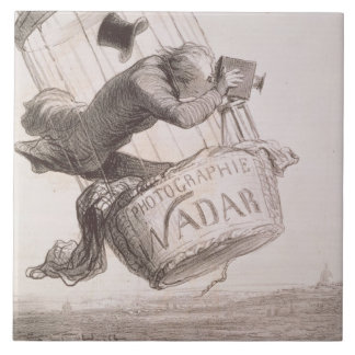 Nadar (1820-1910) elevating Photography to the hei Ceramic Tile