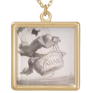 Nadar (1820-1910) elevating Photography to the hei Gold Plated Necklace