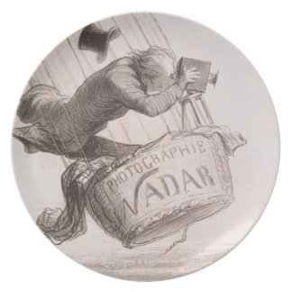 Nadar (1820-1910) elevating Photography to the hei Melamine Plate