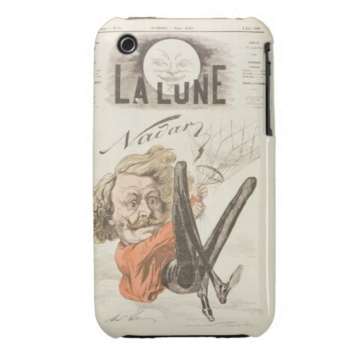 Nadar (1820-1910) title page of 'La Lune', publish Case-Mate iPhone 3 Cases