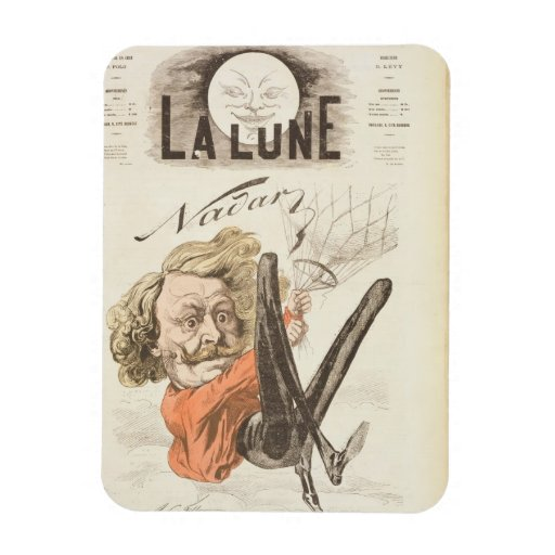 Nadar (1820-1910) title page of 'La Lune', publish Rectangular Photo Magnet