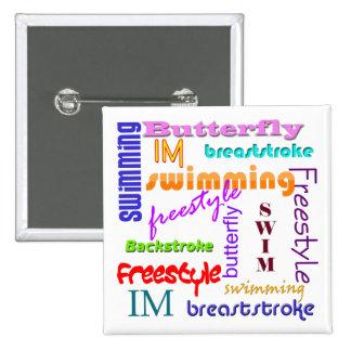 Nadar por todas partes el botón cuadrado