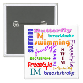 Nadar por todas partes el botón cuadrado pin