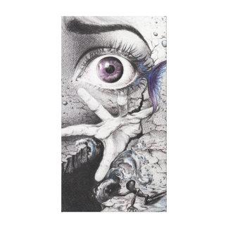 """""""Nade"""" la lona envuelta surrealista del dibujo de  Lienzo Envuelto Para Galerias"""