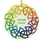 Nadelik Lowen - Cornish Christmas Ornament