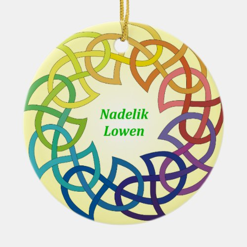 Nadelik Lowen - Cornish Christmas Ornament