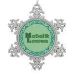 Nadelik Lowen - Cornish Christmas Snowflake Snowflake Pewter Christmas Ornament