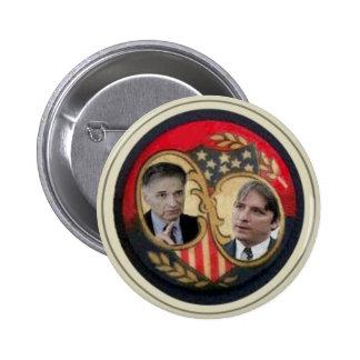 Nader y botón de Gonzales Pin Redondo De 2 Pulgadas