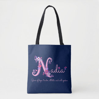 Nadia name and meaning monogram bag