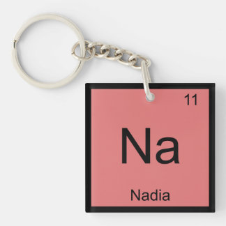 Nadia Name Chemistry Element Periodic Table Keychain