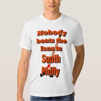 Nadie bate las fans en la camiseta del sur de camisas
