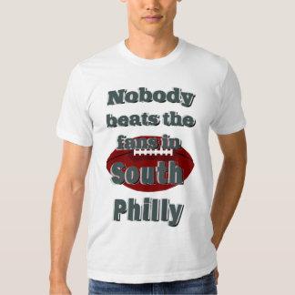 Nadie bate las fans en la camiseta del sur de polera