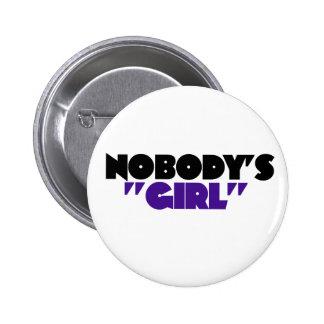 Nadie chica pin redondo 5 cm