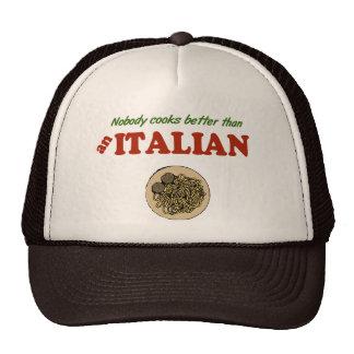 Nadie cocina mejor que un gorra italiano