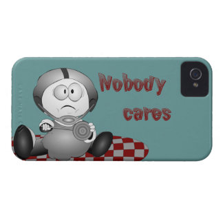 Nadie cuida la caja intrépida de Blackberry iPhone 4 Case-Mate Carcasas