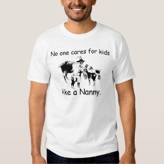Nadie cuida para los niños como una niñera. (dibuj playera