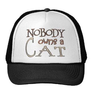Nadie debe un gato gorras de camionero