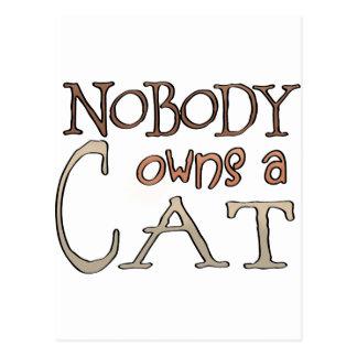 Nadie debe un gato postales