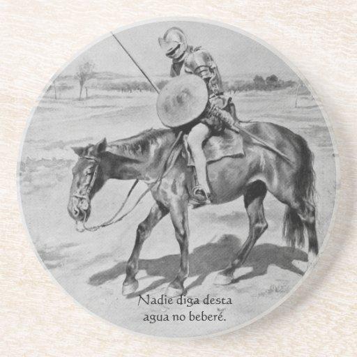 Nadie diga desta agua no beberé - Quijote del Cent Coasters