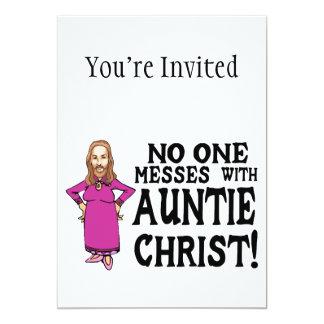 """Nadie ensucia con tía Cristo Invitación 5"""" X 7"""""""