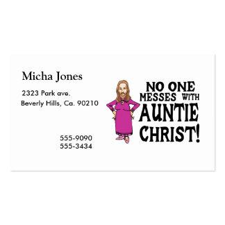 Nadie ensucia con tía Cristo Tarjeta De Visita