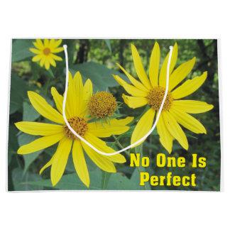Nadie es bolso amarillo perfecto del regalo de los bolsa de regalo grande