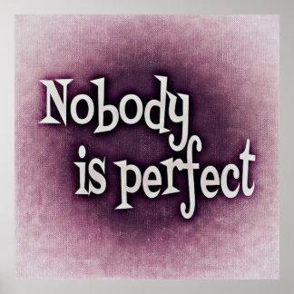 Nadie es perfecto póster