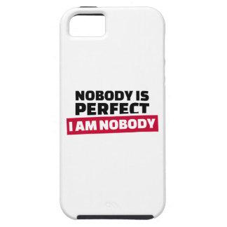 Nadie es perfecto yo no es nadie iPhone 5 Case-Mate cárcasas
