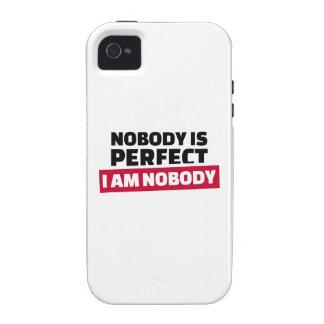 Nadie es perfecto yo no es nadie vibe iPhone 4 funda