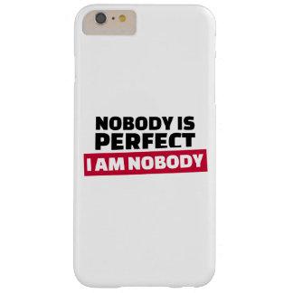 Nadie es perfecto yo no es nadie funda de iPhone 6 plus barely there