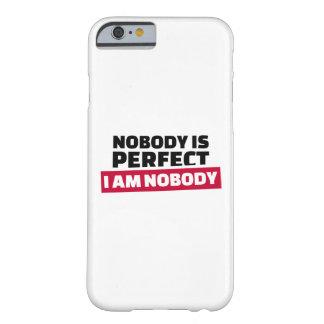 Nadie es perfecto yo no es nadie funda de iPhone 6 barely there